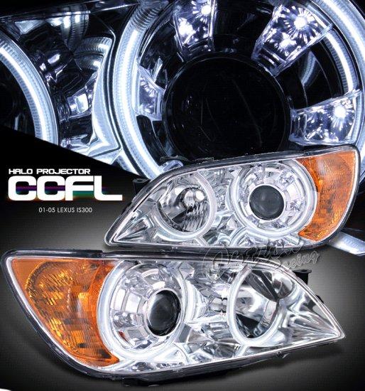 Option: 01-05 Lexus IS300, Projector Headlights, Chrome CCFL (HID Version)