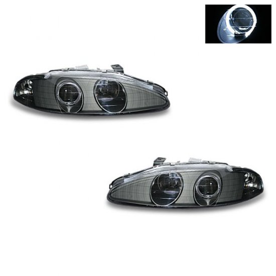 95-96 Mitsubishi Eclipse Projector Headlights (Black)