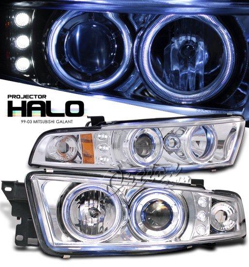 99-03 Mitsubishi Galant, Projector Headlights (Chrome)