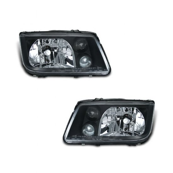 99-04 VW Jetta, Crystal Headlights (Black)