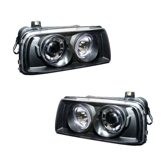93-98 VW Golf Jetta, Projector Headlights (Black)