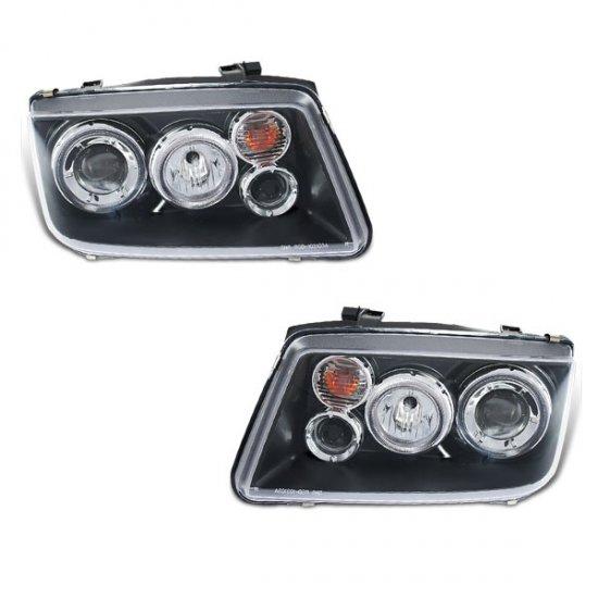99-05 VW Golf Jetta, Projector Headlights (Black)