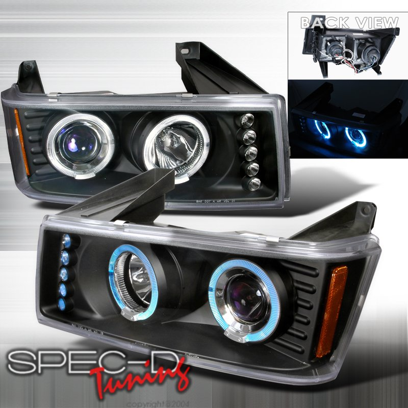 Spec-D: 04-05 Chevy Colorado / GMC Canyon; Projector Headlights, Black