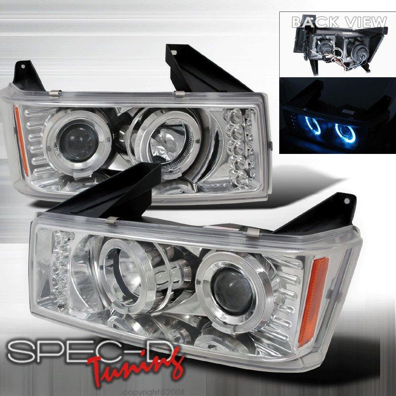 Spec-D: 04-05 Chevy Colorado / GMC Canyon; Projector Headlights, Chrome