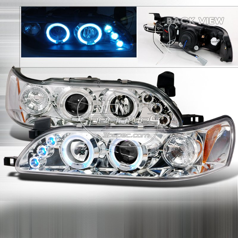 Spec-D: 93-97 Toyota Corolla, Projector Headlights, Chrome
