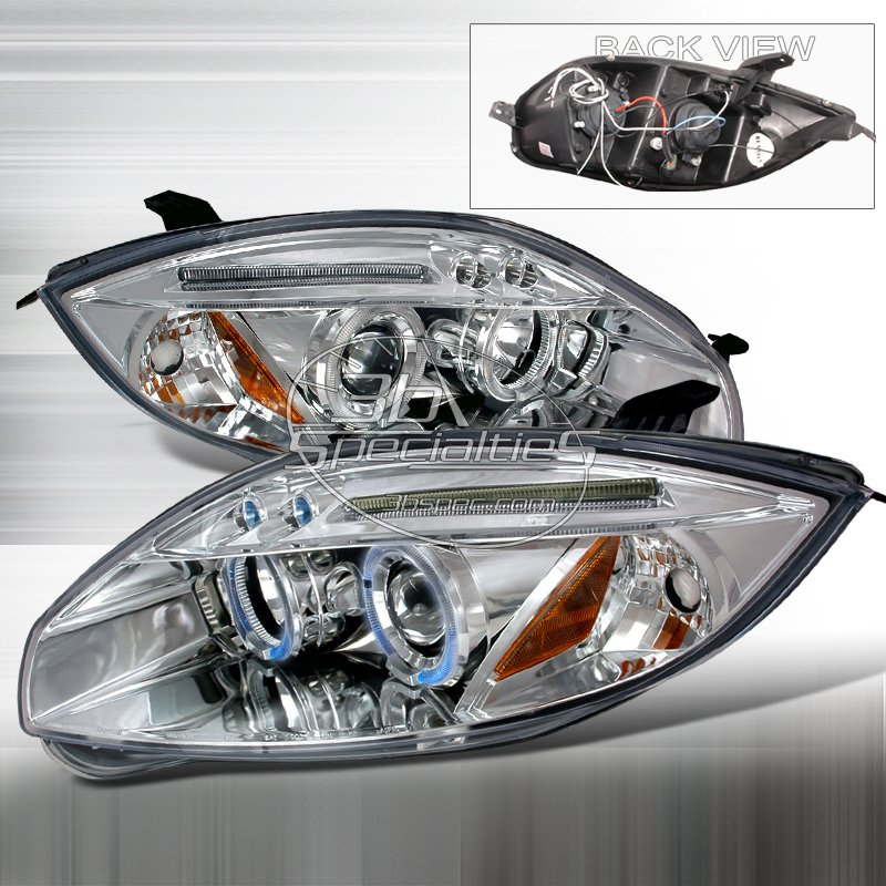 Spec-D: 06-08 Mitsubishi Eclipse; Projector Headlights (Chrome)