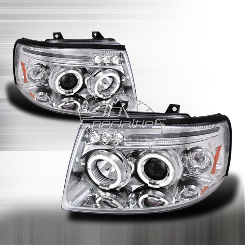 Spec-D: 03-06 Ford Expedition; Projector Headlights (Chrome)