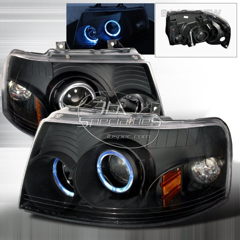 Spec-D: 03-06 Ford Expedition; Projector Headlights (Black)