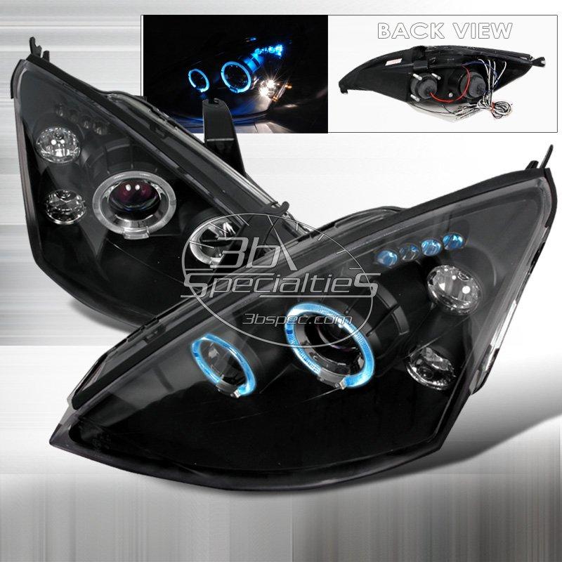 Spec-D: 00-04 Ford Focus; Projector Headlights (Black)