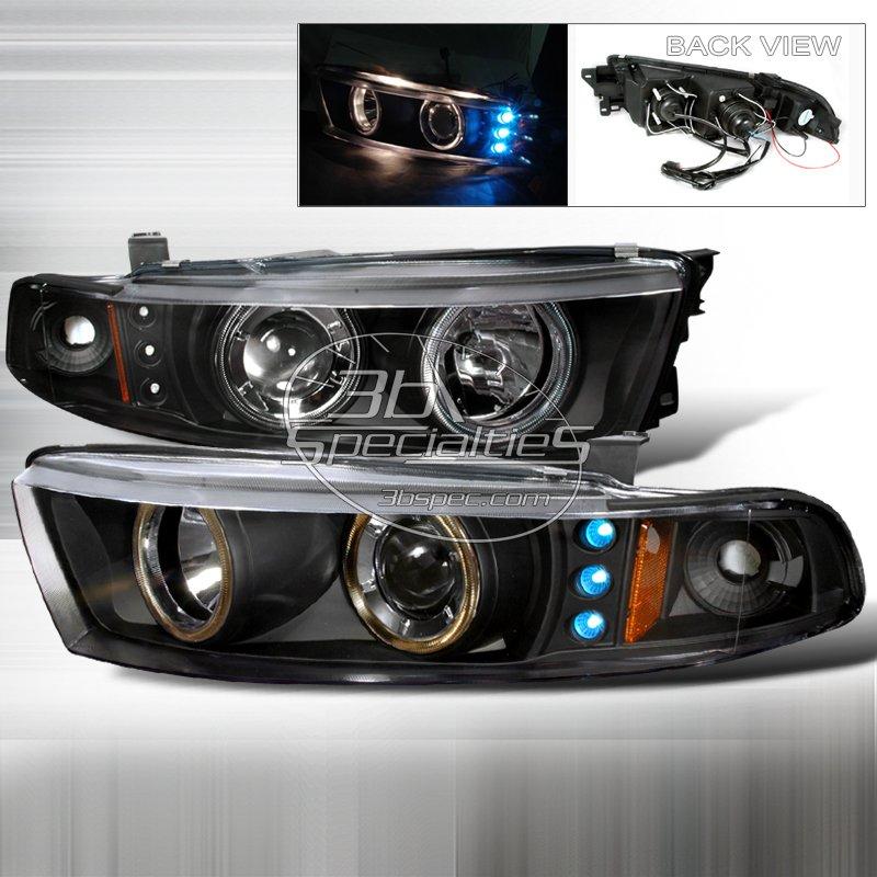 Spec-D: 99-02 Mitsubishi Galant; Projector Headlights (Black)