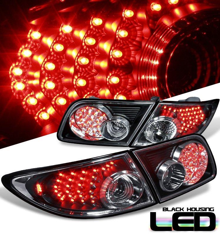 Option: 03-06 Mazda 6, LED Tail Lights, Black