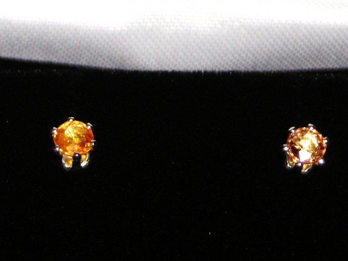 Orange Sapphire Earrings