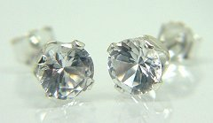 White Zircon Earrings