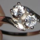White Zircon Bypass Ring
