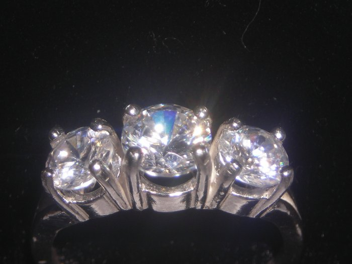Past Present Future CZ Ring