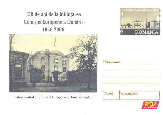 DANUBE NAVIGATION EUROPEAN COMISSION postal stationery