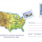 USA MAP on postal stationery ROMANIA 2006