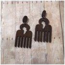 Kimora Africa Brown Wood Stud Earrings