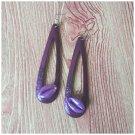 Vera Purple Cowrie Shell Earrings