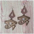 Avianna Eye Of Horus Wood Earrings