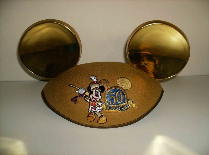 Disneyland 50th Anniversary Golden Mouse Ears hat