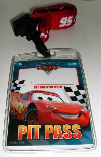 Disney Pixar Cars Movie Piston Cup Pit Crew Pass Disney