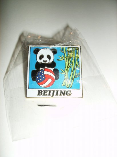 May-Walsh USA Olympic Beach volleyball Beijing 2008 Panda Pin