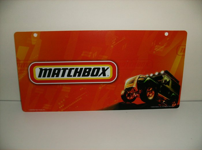 Mattel Matchbox Display Sign Very Limited