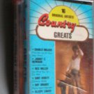 Sixteen Original Artists Country Greats Cassette Tape
