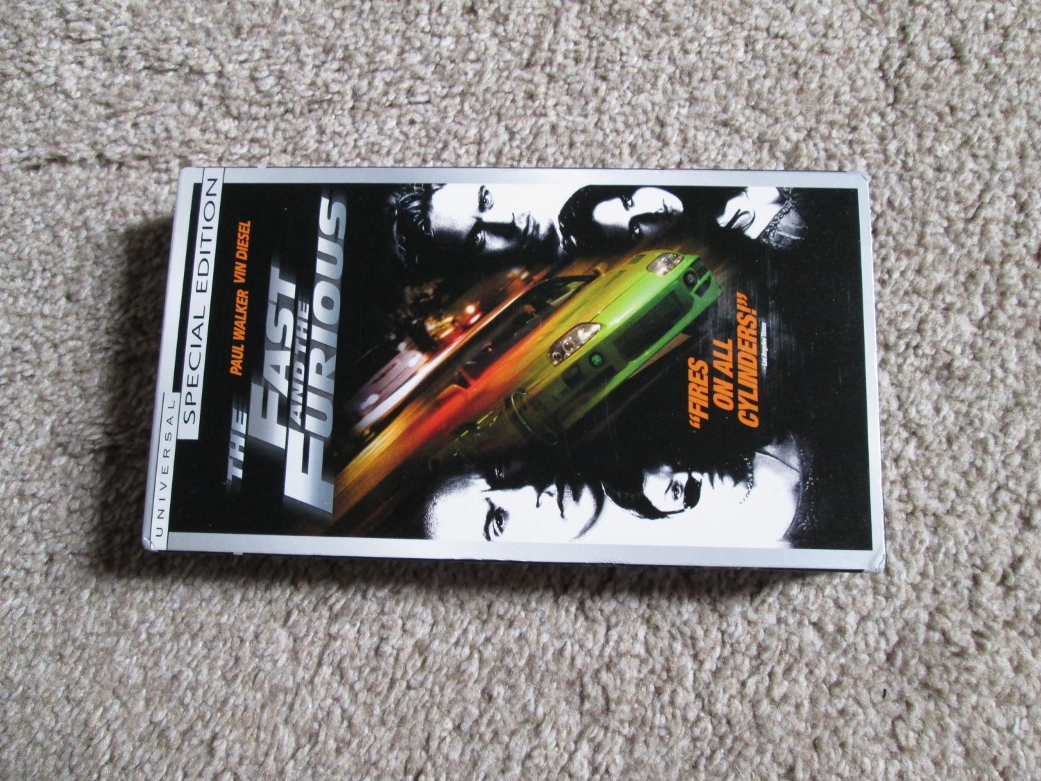 The Fast and the Furious Paul Walker Vin Diesel VHS