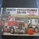 AMT White Freightliner 2-in-1 SD/DD Cabover 75th Anniv. 1/25 scale