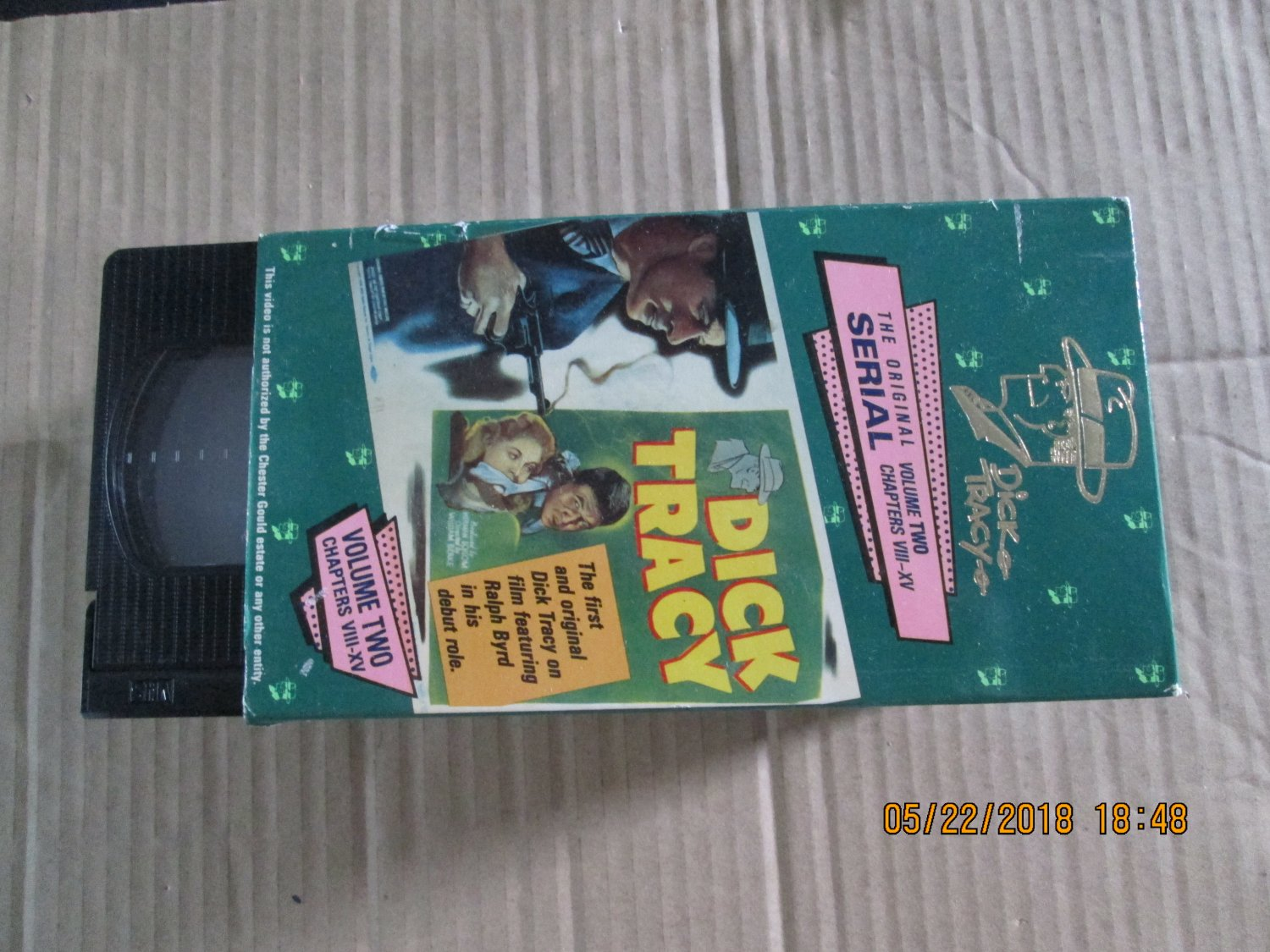 Dick Tracy The Original Serial Volume Two Chapters VIII-XV VHS