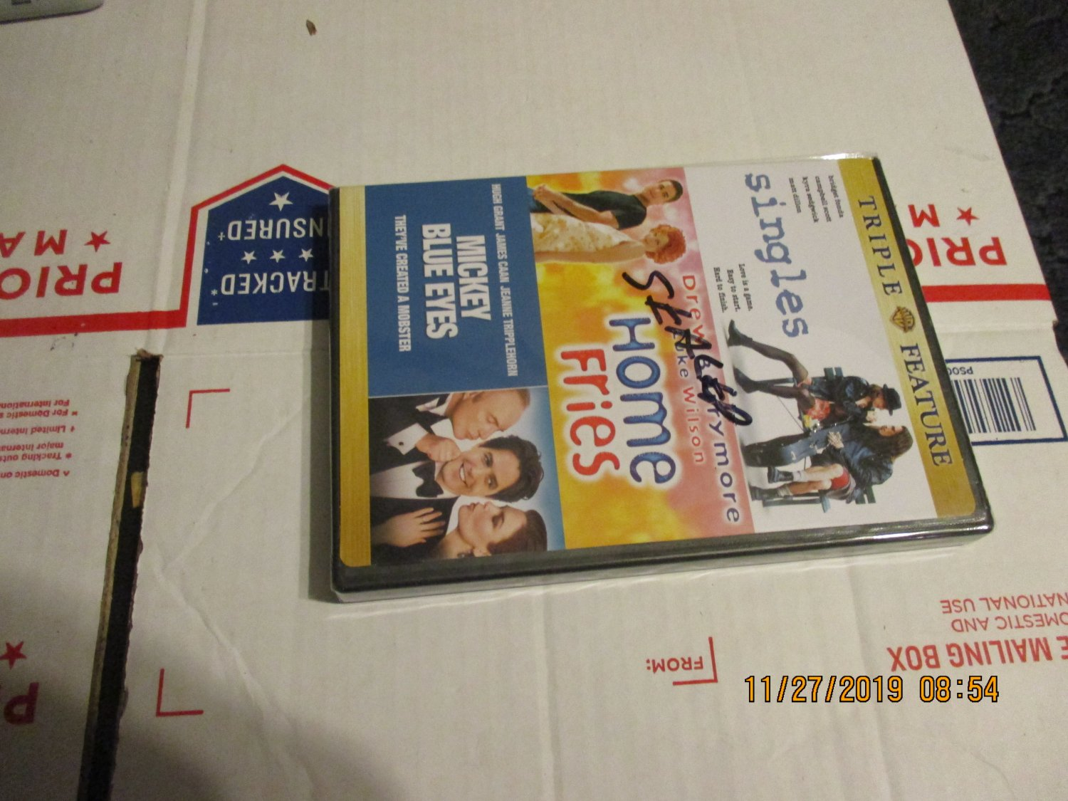 Singles, Home Fries and Mickey Blue Eyes DVD Triple Feature factory sealed