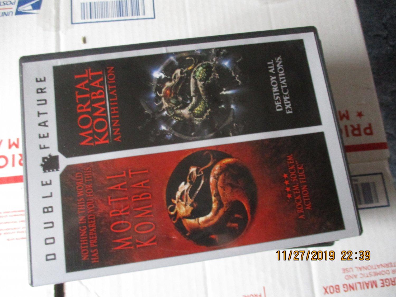 Double Feature Mortal Kombat and Mortal Kombat Annihilation dvd