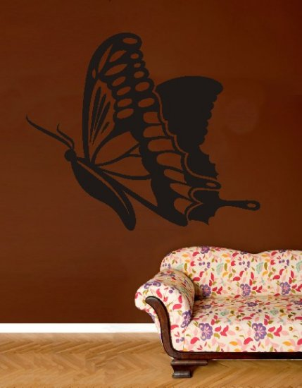 "vinyl wall art butterfly decal (38"" x 46"")"