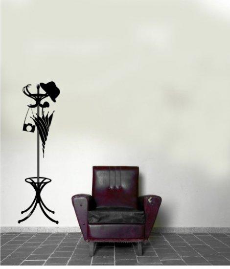 """vinyl wall art decal lifesize coat rack 17"""" x 58"""""""