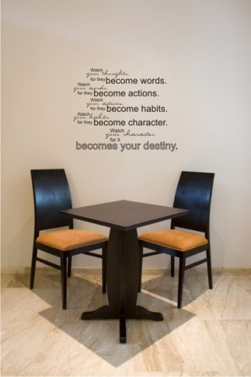 "vinyl wall art decal sticker destiny quote (22"" x 28"")"