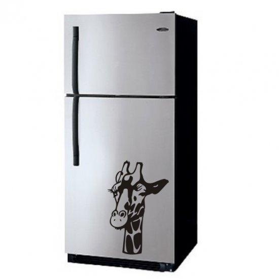 """vinyl wall art decal sticker - giraffe art (22""""x34"""")"""