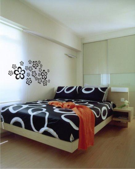 "vinyl wall art decal sticker, hibiscus (20"" x 37"")"