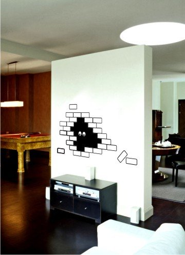 "vinyl wall art | bricks (23"" x 35)"""