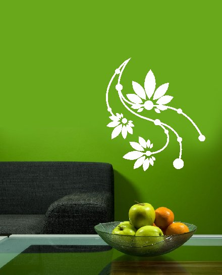 vinyl wall decal floral circles 16 inches x 24 inches