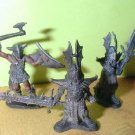 x3 painted Ral Partha chaos knights  2-handed swords axe / 25mm figures