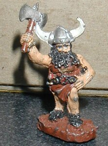 GRENADIER Barbarian with axe Dungeon Explorer D&D figure