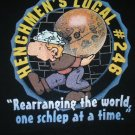 RPG gaming black T-shirt Henchmens Local 246 hirelings Schlep / NEW size M or L