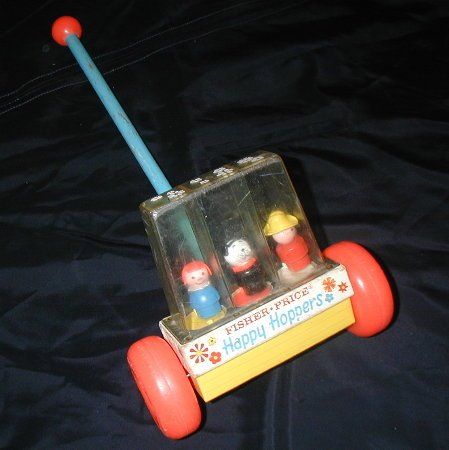 Fisher Price Little People Happy Hoppers rare popper floor toy