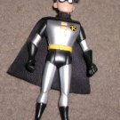 silver Robin 4 inch Batman DC superhero action figure with cloth cape.