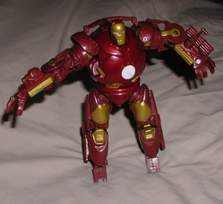 Ironman Ironmonger Battle monger red gold style action figure HTF