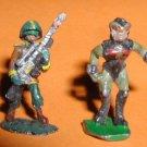 Garrison Heritage ? x2 Star Troopers vintage space minis / Gamma World