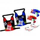 NERF Strikefire classic dart tag compact guns, vests & goggles