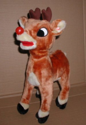 Rudolph The Red Nosed Reindeer Plush Anamatronic Gemmy Toy